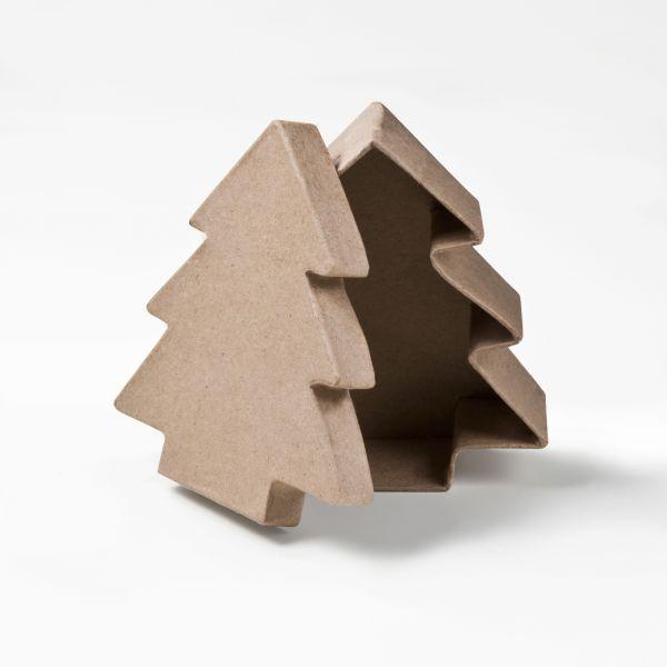 Paper Art - Dose Baum, 11x11x4 cm