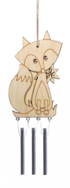 Holz Windklangspiel Fuchs ca. 17x10 cm