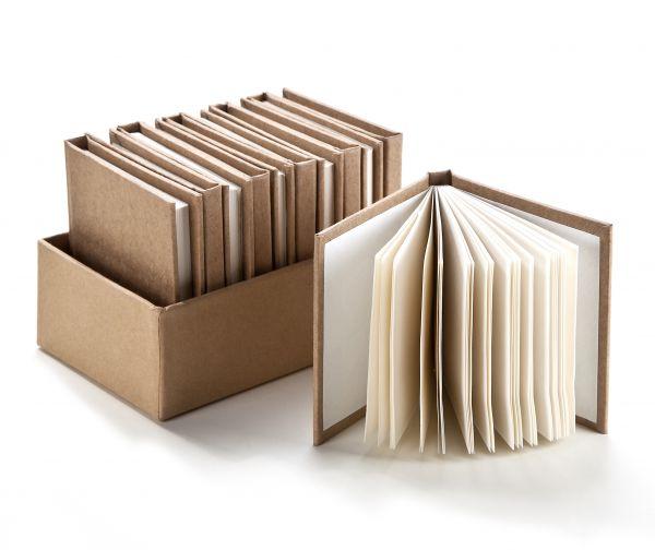 Paper Art Notizbücher im Aufsteller, 12 Stück, 75X75mm