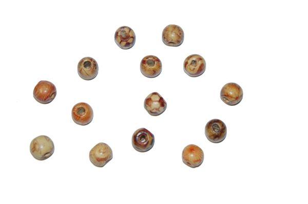 Indioperlen 10 mm, sortiert, 70 Stück