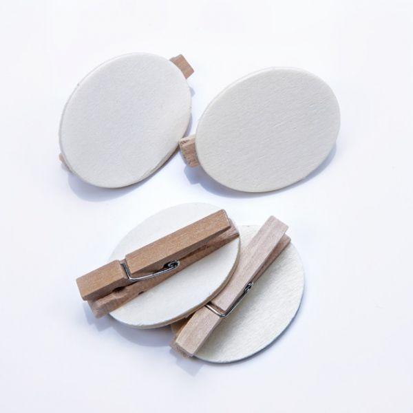 Holz Button blanko