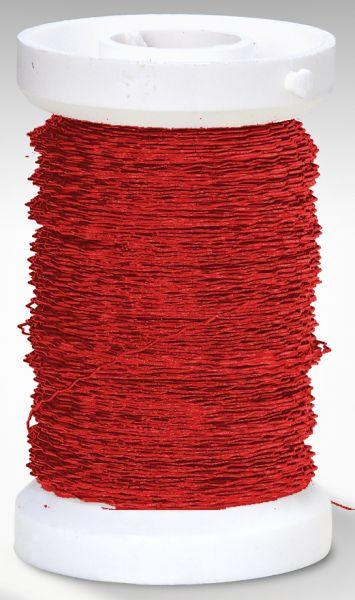 Effektdraht (auf Eisenbasis), 0,30 mm rot, 50m Spule