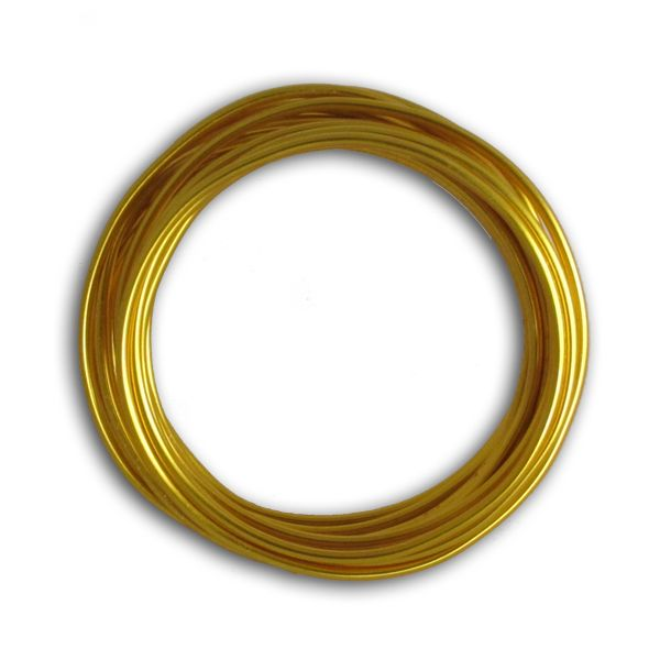 Aludraht 1,00 mm, 5m, gold