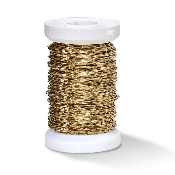 Effektdraht (auf Eisenbasis), 0,30 mm gold, 50m Spule