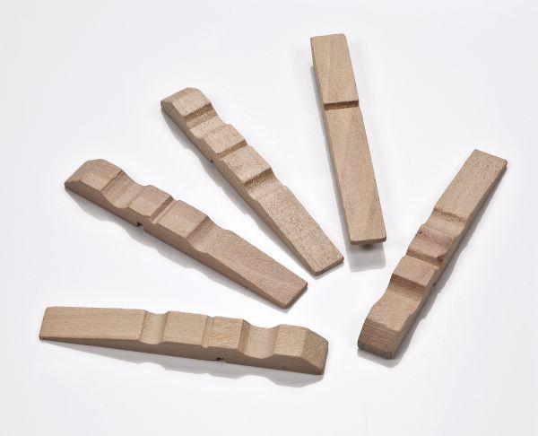 Holz Wäscheklammer Hälften 70mm, 500 Stück