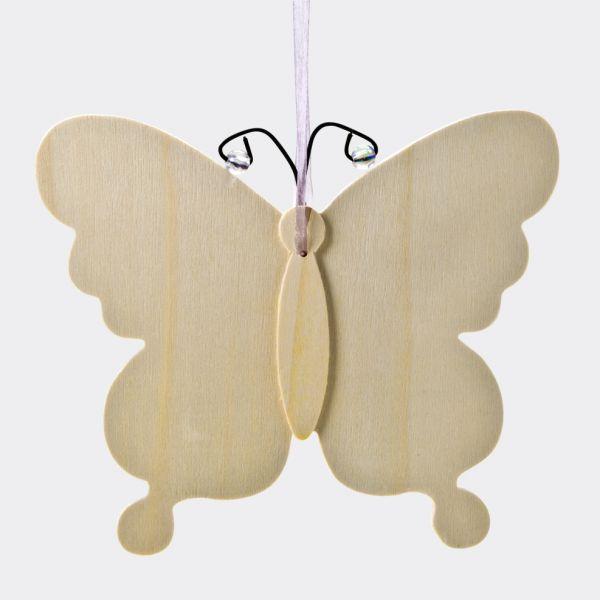 Holz Hänger Schmetterling, ca. 16x20x1,3 cm