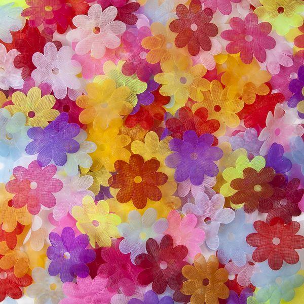 Organza-Blüten, 3,5 cm, 1.000 Stück
