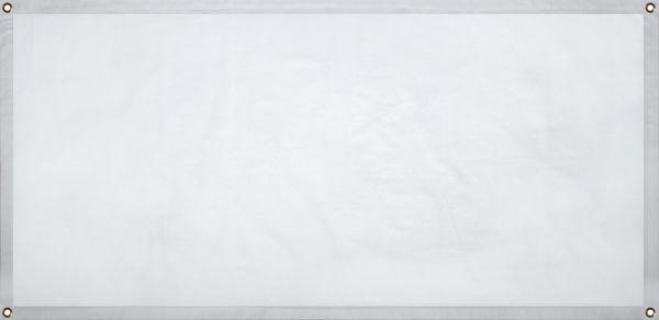 Baumwoll Banner, 135x65 cm, weiss