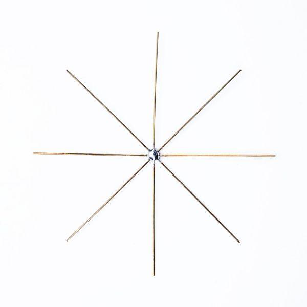 Drahtsterne 11 cm, 10 Stück