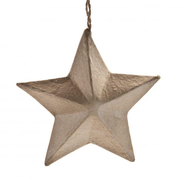 Paper-Art Stern 3D zum Hängen, 8x8x4cm, 10 Stück