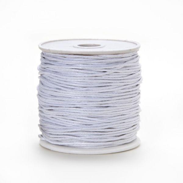 Baumwollkordel gewachst, 1,0 mm weiß, 25 m