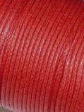 Baumwollkordel gewachst, 1,0 mm rot, 25m