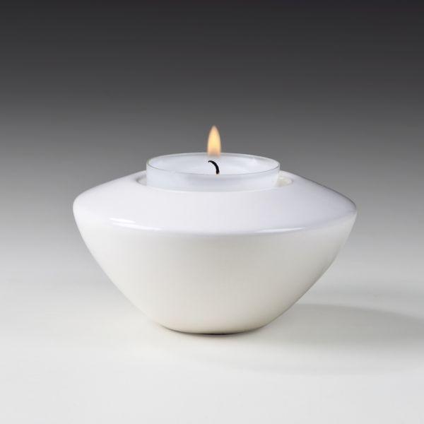 Keramik-Teelichthalter, Durchmesser ca. 8,3 cm, Höhe ca. 4,7 cm, glasiert, für 1 Teelicht, 8 St./Ktn
