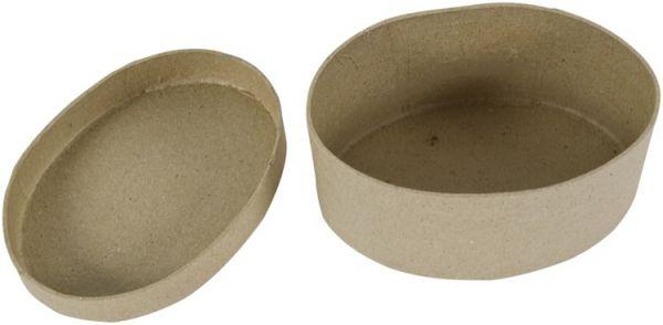 Paper Art Dose oval, 12X9X6,5cm, 1 Stück