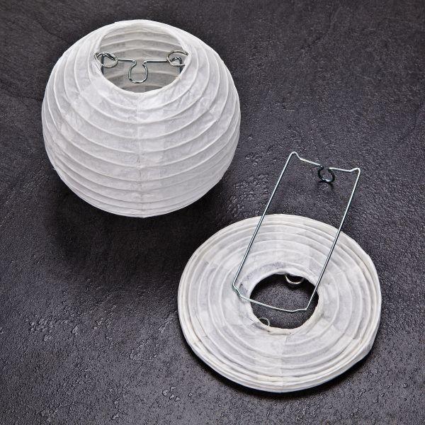 Papierlampenschirme rund 9 cm, 6 Stück