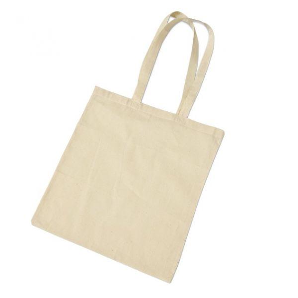 Baumwoll Tasche 38x42 cm, langer Henkel5 Stück