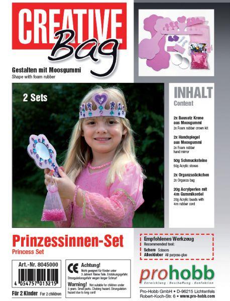Creativbag Prinzessin für 2 Prinzessinnen, aus Moosgummi