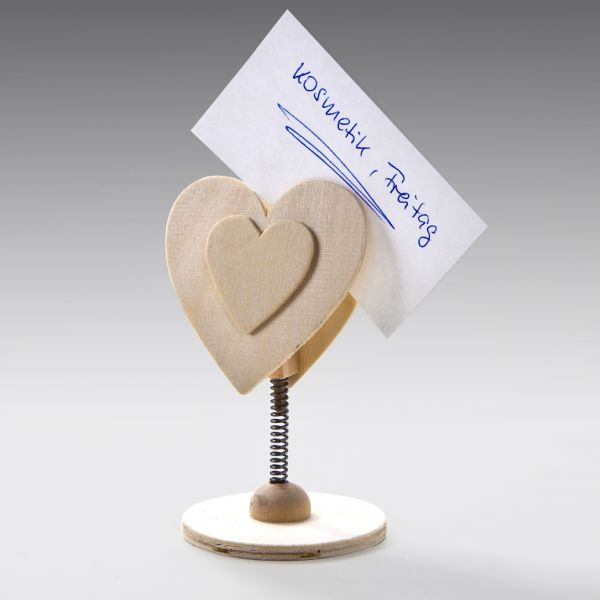 Holz Memohalter Herz, 1 Stück