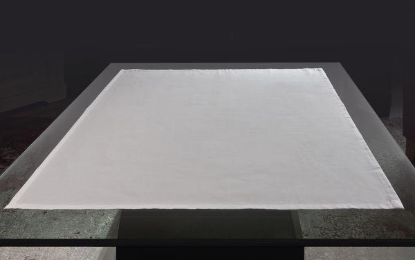 Baumwoll Tischdecke 80x80 cm, weiss