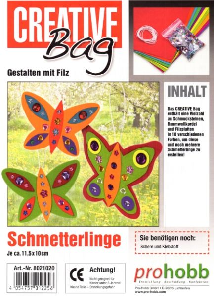 Kreativ Set Filzies, Schmetterlinge
