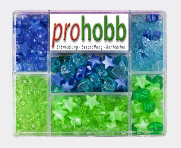 Creative Beads - Set blau-grün-türkis inkl. Stretchgummi
