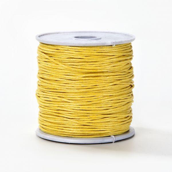 Baumwollkordel gewachst, 1,0 mm gelb, 25m