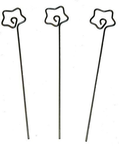 Draht-Memohalter Stern, 14 cm, 10 Stück