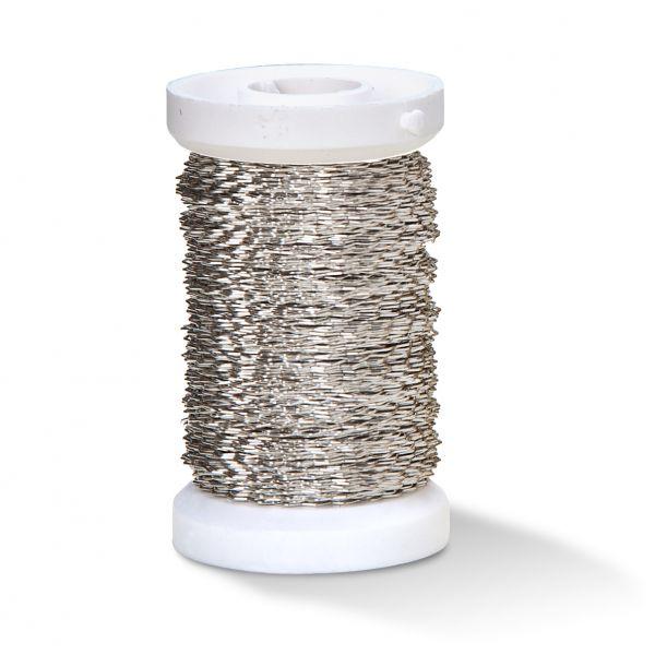 Effektdraht (auf Eisenbasis), 0,30 mm silber, 50m Spule