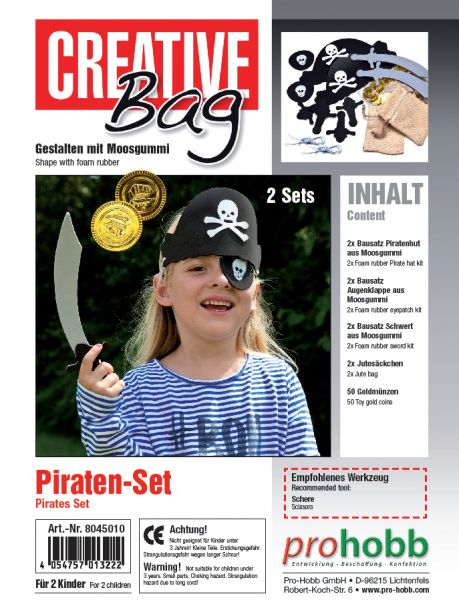 Creativbag Pirat für 2 Piraten, aus Moosgummi