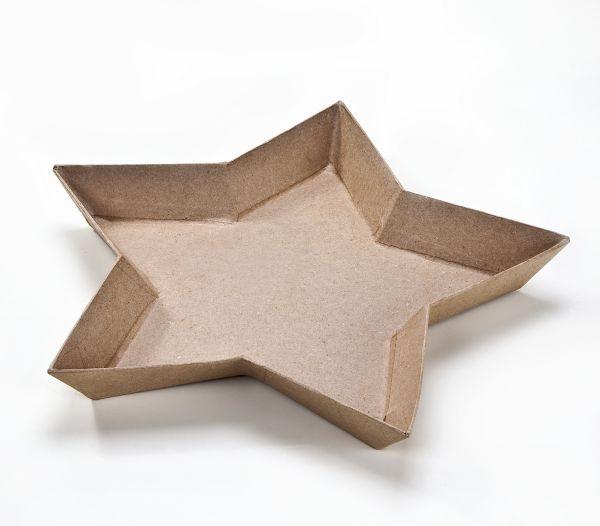 Paper Art Teller Stern, 27x27x3 cm