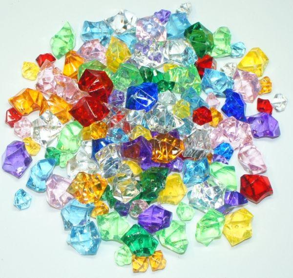 Diamanten transparent bunt 500g