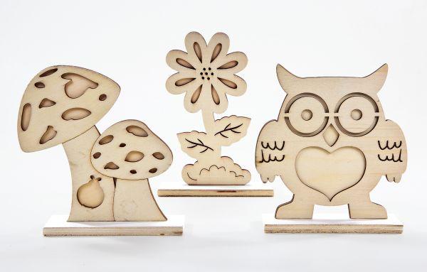 Holz Stehfiguren Set