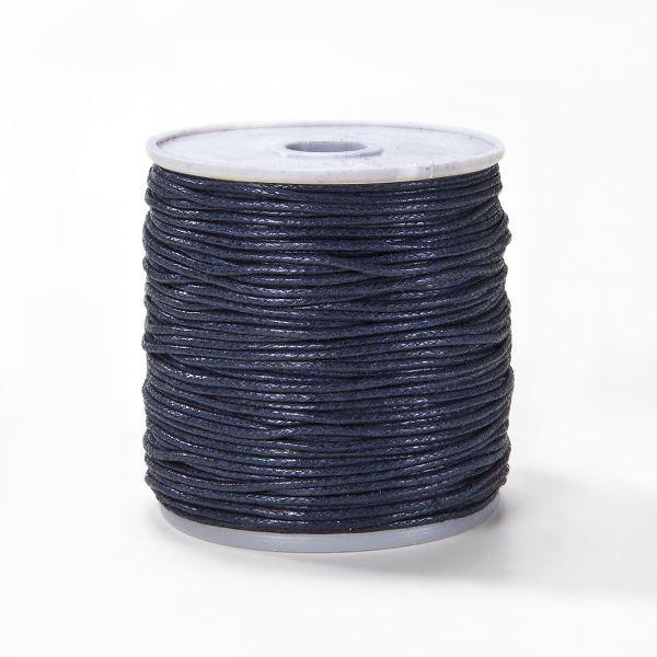Baumwollkordel gewachst, 1,0 mm blau, 25m
