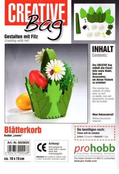 Creativbag Filz-Körbchen-Set Blätterkorb