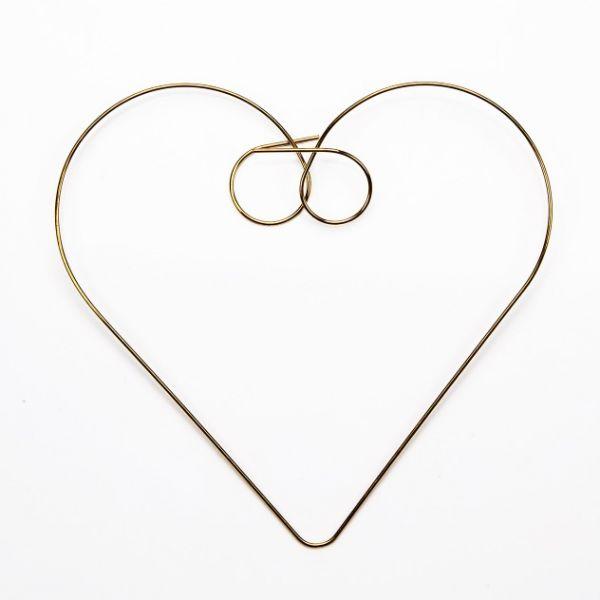Drahtbiegeteil Herz, 80x75 mm, 5 Stück