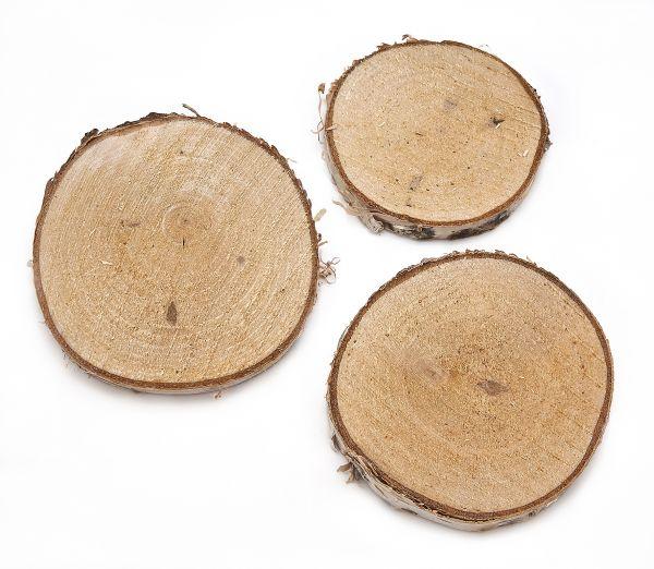 Holzscheiben-Sortiment 8-9,5 cm, 20 Stück