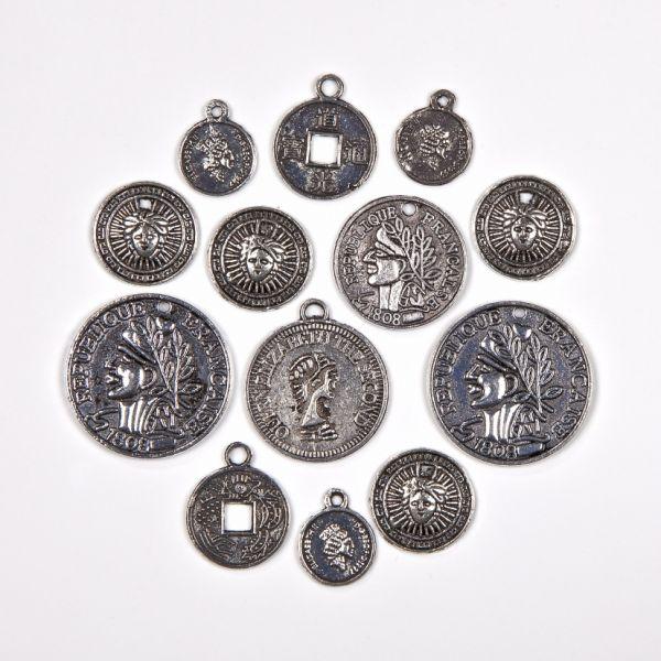 Münzen Mix, silber, 60 Stück