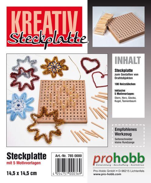 Kreativ-Steckplatte SET incl. Biegeplüsch