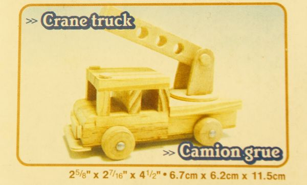 Holz Modellbausatz Feuerwehrauto