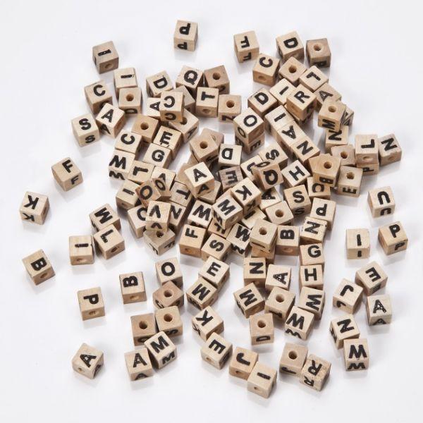 Buchstabenholzwürfel eckig 7 mm, 300 Stück