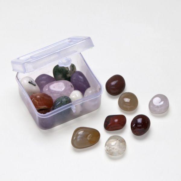 """Edelsteine-Set """"Stones-to-go"""", ca. 20-30 Steine,ca. 0,5-1,5 cm, versch. Sorten und Farben"""