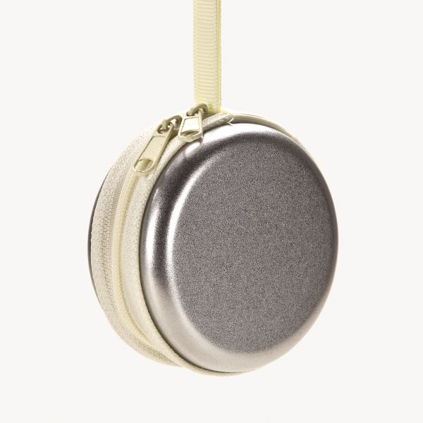 Metallbox mit Reißverschluß rund, 7x3 cm