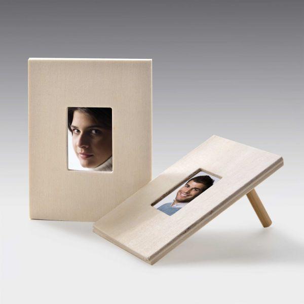 Holz Bilderrahmen rechteckig, 9x7 cm, 10 Stück