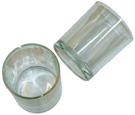 Glas Windlichter, Design 2, ca. 6 x 7,3cm, 6 Stück