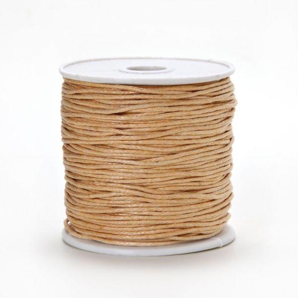 Baumwollkordel gewachst, 1,0 mm natur, 25 m