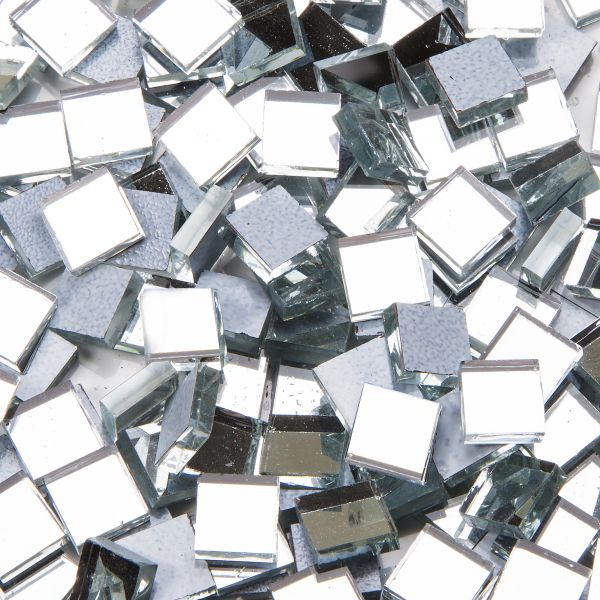 Mosaik Spiegelsteine 10x10mm, 100g, 2mm stark