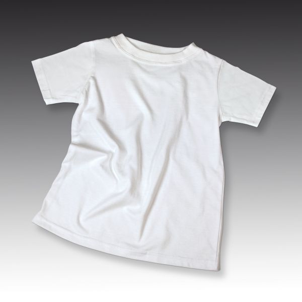 Baumwoll T-Shirt weiss, 160 g/mý, Gr. 92