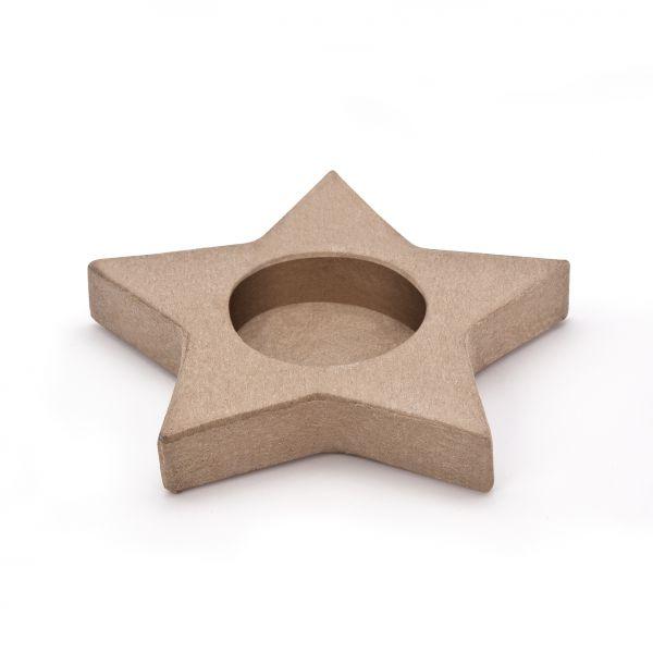 Paper Art Teelichthalter Stern Ø9cm, 2cm hoch, 4 Stück