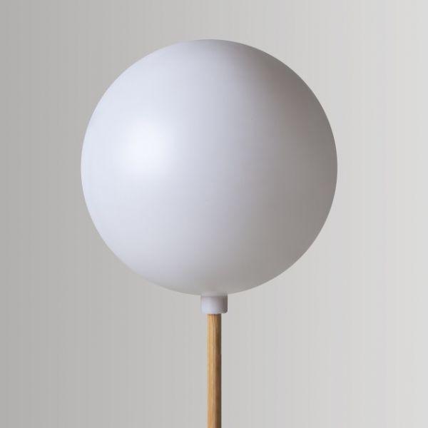 Kunststoff-Kugel weiß, 25 cm, mit Stutzen